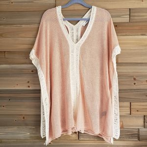 Zara Knit Blush Contrasting Short Tunic Small